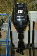 Suzuki. 15,00л.с., 4х тактный, бензин, нога S (381 мм), Год: 2015 год