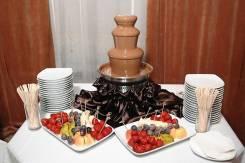 """Шоколадный фонтан и Сырный фонтан от кейтеринговой компании """"Малина"""""""