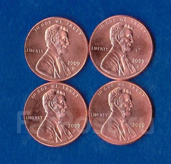 1 цент США , 2009г. (4 мон. ) 200 лет со дня рождения Авраама Линкольна