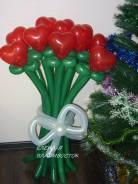 """Букет сердечек на """"14 февраля """" из воздушных шаров. Под заказ"""