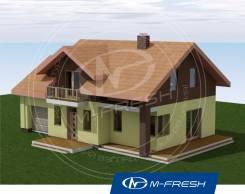 M-fresh Mellicano (Проект 1-этажного дома с мансардой! ). 100-200 кв. м., 1 этаж, 4 комнаты, комбинированный