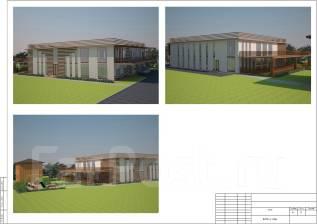 Проект кафе. более 500 кв. м., 2 этажа, 10 комнат, бетон