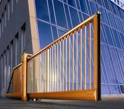 Устройство откатных ворот. Металлоконструкции и изделия.