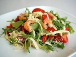 Салат с тигровой креветкой и рукколой (Праздничное меню)