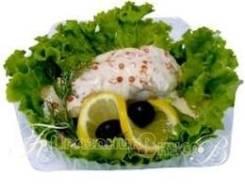 Палтус в сливочно-икорном соусе (Праздничное меню)