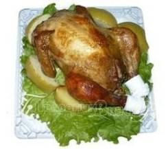 Курица фаршированная яблоками (Праздничное меню)