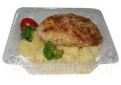 Котлета из трески с гарниром (Готовые обеды)
