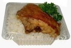 Курица жареная с гарниром (Готовые обеды)