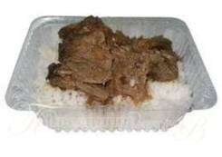 Печень жареная с луком с гарниром (Готовые обеды)