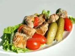Шашлычок рыбный (Праздничное меню)
