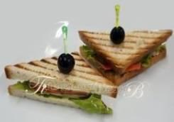 Сэндвич с красной рыбой (4 шт.) (Праздничное меню)