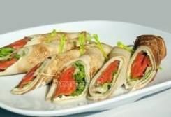 Блинчики с лососем (6 шт.) (Праздничное меню)