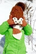 Шапка, шарф и варежки. Рост: 80-86, 86-98, 98-104, 104-110 см