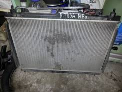 Радиатор охлаждения двигателя. Nissan Tiida, C11 Двигатель HR16DE