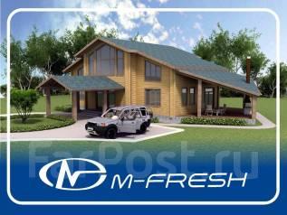M-fresh Belux wood (Свежий проект для жизни в доме из клееного бруса! ). 200-300 кв. м., 2 этажа, 5 комнат, дерево