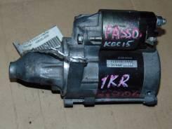 Стартер. Toyota Passo, KGC15, KGC10 Двигатель 1KRFE