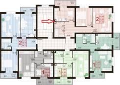 2-комнатная, улица Пиренейская 12. Прикубанский округ, частное лицо, 58 кв.м.