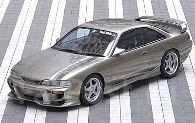 Порог пластиковый. Nissan Silvia, S14