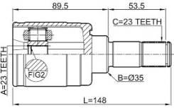 Шрус внутренний задний оригинал новый Honda 42320-S2L-003