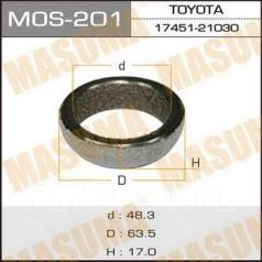 Кольца глушителя. Toyota: Platz, Allion, Allex, ist, Vios, Avensis, WiLL Vi, Corolla, Probox, Yaris Verso, Raum, Opa, Avanza, Echo Verso, Matrix, WiLL...