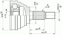 Шрус наружний SAAB 9000 QH QVJ637