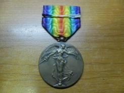 """Медаль """"Победы в Первой Мировой Войне"""" Бельгия(Редкая) 1919г."""