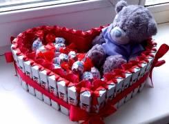 Подарок из сладостей. Kinder, love is, киндер сюрприз