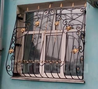 Ворота распашные, откатные. Решетки. Козырьки. Заборы. Худож. ковка
