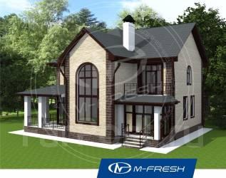 M-fresh Delicious Chicago-зеркальный (Проект дома со вторым светом). 200-300 кв. м., 2 этажа, 4 комнаты, бетон