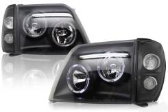 Фары тюнинг Toyota Land Cruiser Prado 90-95 черные