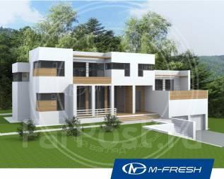 M-fresh Brilliant green-зеркальный (Современный дом со вторым светом! ). более 500 кв. м., 2 этажа, 6 комнат, бетон