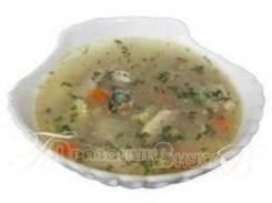 Суп с сайрой (Готовые обеды)