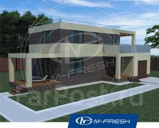 M-fresh Impulse Compact (Проект современного дома с гаражом). 100-200 кв. м., 2 этажа, 5 комнат, кирпич