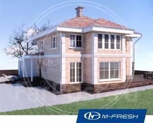 M-fresh Majesta-зеркальный (Проект дома со встроенным гаражом). 200-300 кв. м., 2 этажа, 5 комнат, кирпич
