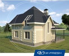 M-fresh Simple-зеркальный (Проект в электронном виде дешевле на 10%). 100-200 кв. м., 1 этаж, 4 комнаты, бетон