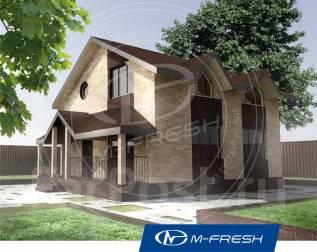 M-fresh Original-зеркальный (Дом с круглым окном или треугольным). 100-200 кв. м., 2 этажа, 3 комнаты, каркас