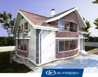 M-fresh Radius-зерк. (Проект 2-этажного дома). 300-400 кв. м., 2 этажа, 7 комнат, комбинированный