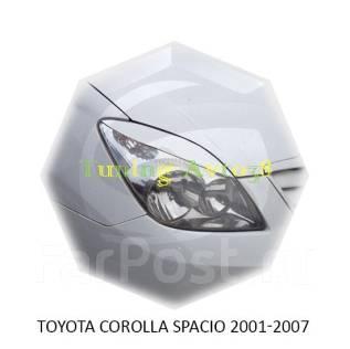 Накладка на фару. Toyota Corolla Spacio, ZZE124N, ZZE122N, NZE121N Двигатели: 1ZZFE, 1NZFE