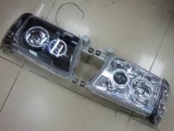 Фары тюнинг линза глазки Toyota Hilux Surf 185 (белые + черные)