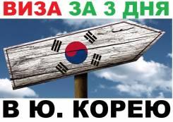 Визы в Южную Корею за 3 дня! Только паспорт и фото