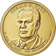 Новинка - 1 доллар США 2016 - 38 Президент Форд (Gerald Ford)