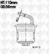 Фильтр топливный. Mitsubishi Pajero Junior, H57A Mitsubishi Pajero Mini, H51A, H56A Двигатель 4A30
