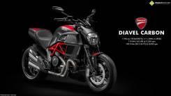 Ducati Diavel Carbon. 1 200 куб. см., исправен, птс, без пробега