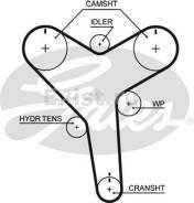 Ремень ГРМ. Toyota: Hilux Surf, Tundra, Granvia, T100, 4Runner, Grand Hiace, Hilux, Land Cruiser Prado, Tacoma Двигатель 5VZFE