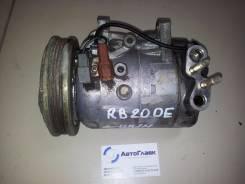 Компрессор кондиционера. Nissan Skyline, ER32, HCR32, HR32, HNR32, ECR32 Двигатели: RB20D, RB25DE, RB20DE, RB20DT, RB20DET