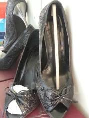 Обувь женская. Туфли чёрные блестящие