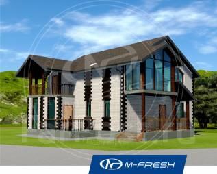 M-fresh Saint-Petersburg style (Проект дома с балконом). 200-300 кв. м., 2 этажа, 5 комнат, кирпич