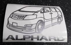 Наклейка. Toyota Alphard