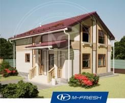 M-fresh Jasmin (Готовый проект компактного жилого дома! ). 100-200 кв. м., 2 этажа, 4 комнаты, кирпич