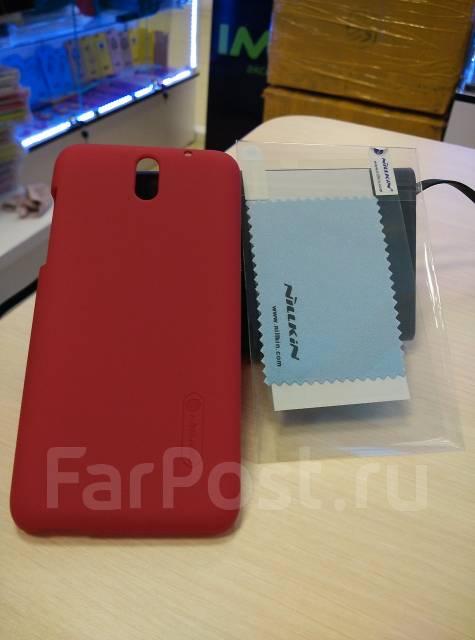 Чехол-накладка для HTC Desire 610 Nillkin Super Frosted Shield Красный